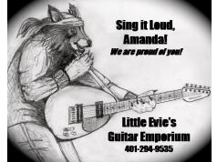 Fake Ad for Amanda's Senior High School Musical Program.