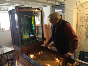 "Bob with his ""Create Life"" Pinball Machine"