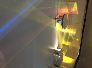 One of Bob's colorful dynamic light sculptures.